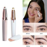 Elektrischer Haarentferner Augenbrauenschneider Gesichts Augenbrauen Trimmer Rasiermesserrg-Pink