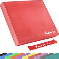 MOVIT® Balance Pad Sitzkissen rot mit Gymnastikband