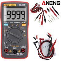 ANENG AN8008 True RMS Digital Multimeter AC DC Strom Volt Widerstands Frequenz Kapazitäts-Test Spannungsmessgerät MAX 9999 Counts,Temperaturmessung