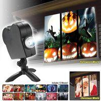 Weihnachten Halloween Projektionslampe Movie Projector Kit 12 Modi , Vorhang / Europäische Vorschriften Senden