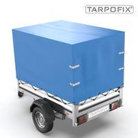 Tarpofix® Hochplane 210x115x90 cm - Anhängerplane für STEMA OPTI AN F 750 850 DBL FT I PKW Anhänger Abdeckplane