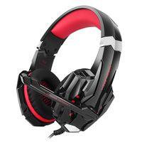 KOTION EACH GS900 Stereo-PC-Gaming-Kopfhörer-Headset mit Mikrofon für XBOX 360 / PS3 / PS4 / PC-Computer, Laptop / Handy【Schwarz Rot】