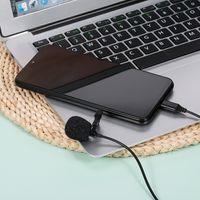 Lavalier-Mikrofon Typ C Omnidirektionales Kondensatormikrofon Hervorragender Klang fuer Audio- und Videoaufnahmen Schwarz