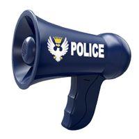 Kinder Rollenspiel Polizei Megaphon Lautsprecher, mit Lautstärkeregelung Farbe Blau