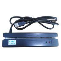 2 Track USB Magnetstreifen Swipe Guthaben Abbuchung POS Kartenleser Schwarz