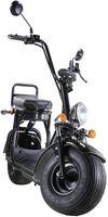 Elektroroller mit Straßenzulassung Chopper X7, 12Ah / 30km Reichweite, E-Scooter E-Roller 45 km/h Straßenzulassung, Schwarz