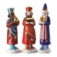 Hutschenreuther Weihnachtskrippe Krippenfiguren Kaspar / Melchior / Balthasar Set Heilige Drei Könige h: 11 cm / 11,5 cm / 10,5 cm