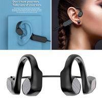 Bluetooth 5.0 Knochenleitungskopfhörer Mikrofon Open Ear Sport Wireless Earbud