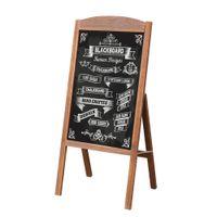 WISFOR Werbetafel Kundenstopper, Holzrahmen, magnetisch und klappbar, 42.5x90cm