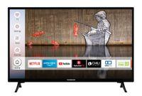 Techwood H32T52E 32 Zoll Fernseher (Smart TV inkl. Prime Video / Netflix / YouTube, HD ready, Works with Alexa, Triple-Tuner)