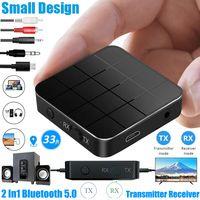 2-in-1 Bluetooth 5.0 Adapter Kabellos Transmitter Empfänger Sender Receiver Wireless USB Aux Audio