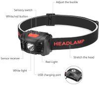 DHL LED Stirnlampe Super Hell Wiederaufladbar Kopflampe