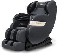 ASUKALE Ganzkörper Zero Gravity Massagesessel mit Fußmassage, HiFi-Music, Wärmefunktion, Automatikprogramme,Schwarz