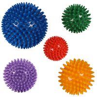 Massageball Noppenball für Reflexzonen Massage I Selbstmassage Igelball Größe: 5 er Set