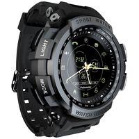 LOKMAT MK28 Smart Watch 1.14 Zoll Bildschirm BT4.0 Leben wasserdichter Schrittzaehler Kalorien Alarm Sportler Smartwatch fuer Android 6.0 / iOS 7.0 und hoeher(Schwarz)