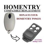 HOMENTRY PS94331 kompatible Fernbedienung Ersatz-Sender, 433.92 Mhz Rollencode