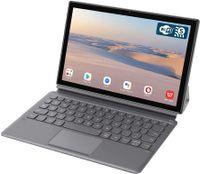 Blackview Tab8 Tablet 10,1 Zoll mit Tastatur Android 10 Tablet-PC (1920x1200 FHD 6,580mAh Akku, Octa-Core-Prozessor, 4GB RAM, 64GB ROM, 13MP + 5MP Kamera, 4G LTE + 5G-WiFi, Face ID, GPS, Bluetooth 5.0, OTG) (Gold)