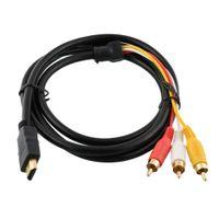 HDMI Stecker auf 3 Cinch Stecker Video Audio Kabel Adapterkabel