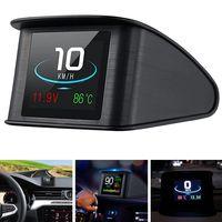MEIYOU Auto HUD Display Head Up, Display Auto Powcan  2,2 Zoll Head up Display, Geschwindigkeitsmesser Auto, KMH & MPH Digital GPS Smart Tachometer mit Überdrehzahlalarm Voltmeter Warnung