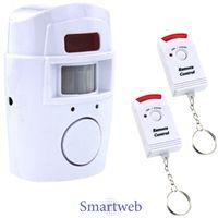 105 dB Alarmanlage mit 2 Hand Fernbedienungen Alarm Anlage kabellos