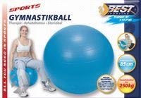 Best Sporting Gymnastikball 85 cm Ø - Tragkraft: bis ca. 250 kg - Farbe: Blau