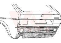 VAN WEZEL Heckwand für VW GOLF I (17)