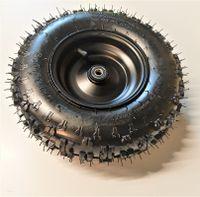 Vorderrad für Kinderquad mit Kinderquadreifen Quadreifen Reifen 4.10-6, Schlauch und 6 Zoll Felge schwarz für Kinder Quad ATV