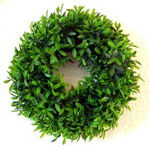 Buchskranz Kunstpflanze Kranz Türkranz  Buchs Deko Dekoration Blume Buchsbaum 40