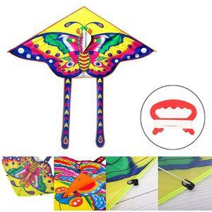 Drachen Schmetterling Einleiner Flugdrachen Winddrachen Kinderdrachen Outdoor Drachen+15m Drachenschnüre