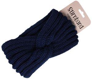 Damen Stirnband Haarband Schleife Winter, Farbe wählen:blau
