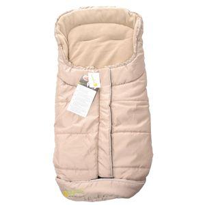 Winterfußsack, Fußsack für Kinderwagen, Fleece, 100x50 cm, Babyblume, Beige