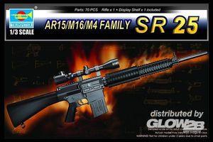 Trumpeter AR15/M16/M4 FAMILY-SR25 1:3, 01913
