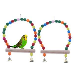 2pcs Vogelschaukel Sitzstange Vogelspielzeug für Vogel Papagei Wellensittich Nymphensittich Sittich Fink Ara Kakadu
