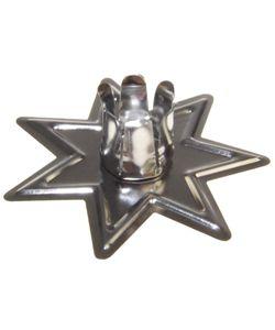 Standkerzenhalter  Stern  10er Set , Farbe:Stern silber