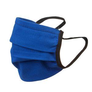 Doppeltseitige 2-lagige Gesichtsmaske Atem Mundschutz Staubmaske Hygienemaske Wiederverwendbar Waschbar Streetwear dunkelblau