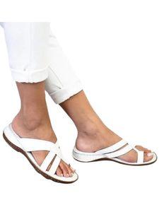 Abtel Damen Fingerpantoffeln Sommermode Sandalen Und Hausschuhe,Farbe:Weiß,Größe:38