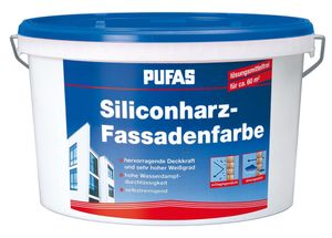 Siliconharz Fassadenfarbe Siliconharzfarbe Außenfarbe Anstrich - Pufas - 10 Liter