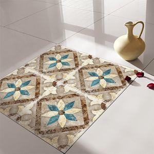 4 Stück wasserdichte Fliesen Aufkleber DIY selbstklebendes Nachbildung 30x30cm,Farbe: Marokko Blumen