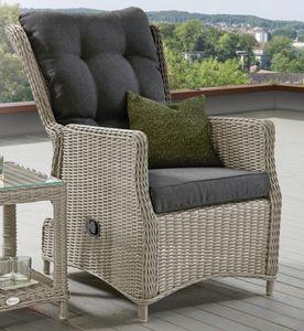 Destiny Sessel Casa Grande Luxe Komfortsessel Sessel Relax Polyrattan Grey