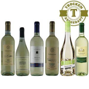 Weißwein Probierpaket Italien trocken (6x0,75l)  Chardonnay aus Venezien | Pinot Grigio von Ca´Ernesto | Hugo