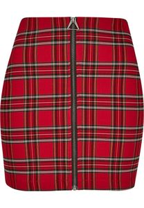 Urban Classics TB2845  Ladies Short Checker Skirt, Größe:XS, Farbe:red/blk
