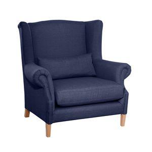 Max Winzer Harvey Big-Sessel - Farbe: dunkelblau - Maße: 115 cm x 95 cm x 117 cm; 30001-1100-1645246-F01