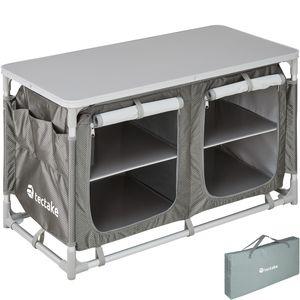 tectake Campingküche 97x47,5x56,5cm - grau