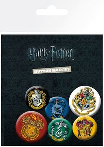 GB Eye - Harry Potter Wappen - Ansteckbutton-Set, 6 -teilig