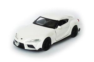 Toyota Supra Sportwagen Modellauto Metall Modell Auto Spielzeugauto Kinder Geschenk 09 (Weiss-Metallic)