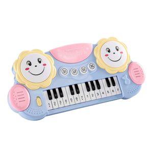 Elektronische Kinder Piano Keyboard Klavier Kinderpiano Musikinstrument Spielzeug Farbe Blau aktualisierter Typ