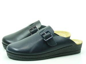 Rohde Neustadt D 1447 Schuhe Damen Pantoletten Clogs Weite G  , Größe:40 EU, Farbe:Blau