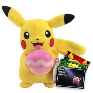 Pokemon Plüschtier ca. 20 cm Pikachu mit Malasada und exklusive GRATIS Grußkarte
