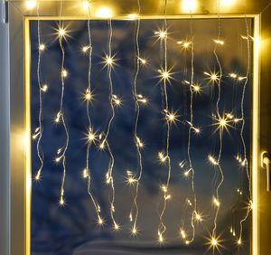 HI 76887 LED Lichternetz Lichtervorhang 120LEDs für aussen warmweiss