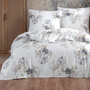 Bettwäsche Bettbezug 155x220 cm, Kopfkissenbezug 80x80 cm  2 teilig Bettgarnitur Bettwäsche - Set  Baumwolle Renforcé mit Reißverschluss